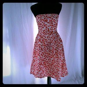 J. Crew Floral Strapless Dress